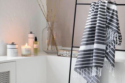 Broste duftlys, duftspray og hammam håndklæde