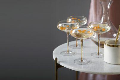 Broste cocktailglas amber - 8 stk