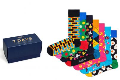 Happy Socks til 7 dage str. 41-46 2 pakker