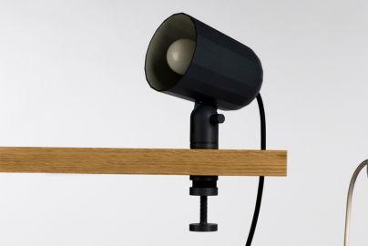 HAY Noc Clip lampe med klemme - koksgrå